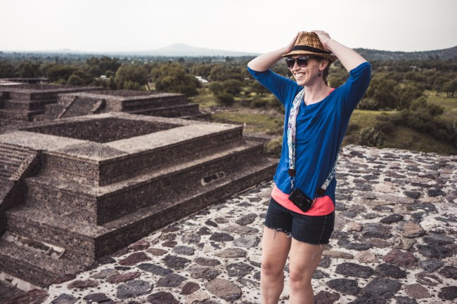 on the Pyramid of the Moon, Teotihuacán