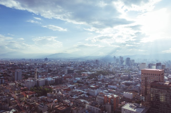 view from Torre Latinoamericana, the fifth tallest tower in Mexico City