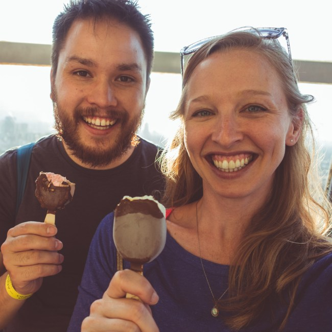 Magnum ice cream at the Torre Latinoamericana Mirador