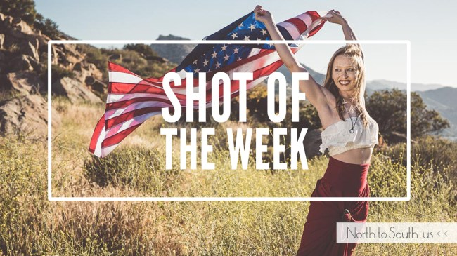 Shot of the Week: American Woman -- American flag photo shoot