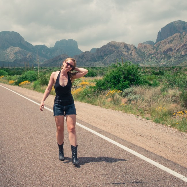 Diana Southern at Big Bend National Park, Texas, one month into the Slow Carb 4-Hour Body Diet