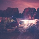 nighttime camping at Valley of Fire State Park