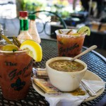 Bloody Marys and gumbo at The Gazebo in the New Orleans French Quarter