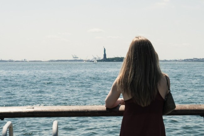 View of the Statue of Liberty from Battery Park