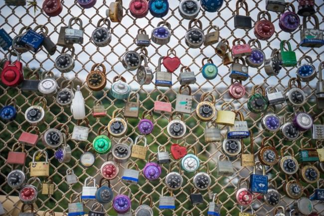 locks on the bridge near CMU