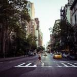 crosswalk in Upper East Side, New York City
