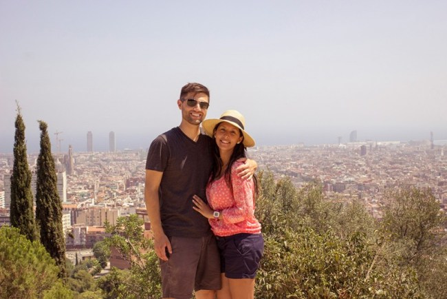 Chris Tyre and Ismary Torres in Barcelona