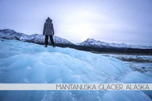 Diana Southern and Ian Norman hiking Matanuska Glacier, Alaska
