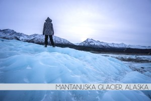 Diana Southern and Ian Norman hiking Matanuska Glacier, Alaska