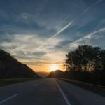 U.S. Road Trip Re-Cap: Week Nineteen -- sunset on the road in West Virginia