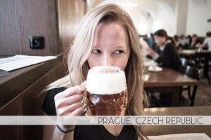Drinking beer in Prague, Czech Republic