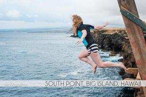 Cliff Jumping at South Point, Big Island, Hawaii
