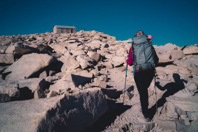 Diana Southern, Approaching the Summit on the John Muir Trail - Hiking Mt Whitney - northtosouth.us