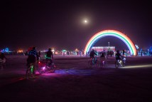 Burning Man 2018 rainbow art