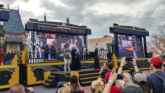Disney's Hollywood Studios March of the First Order Star Wars courtyard show