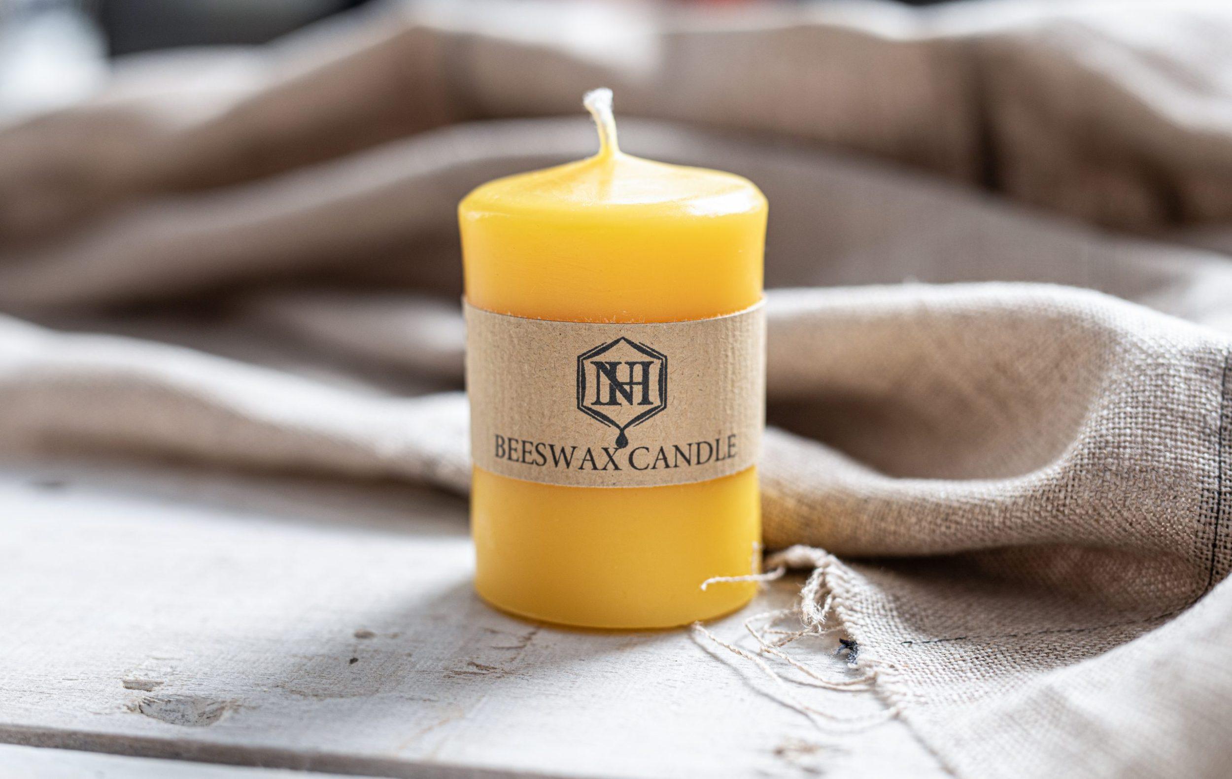 Beeswax Smooth Pillar Candle