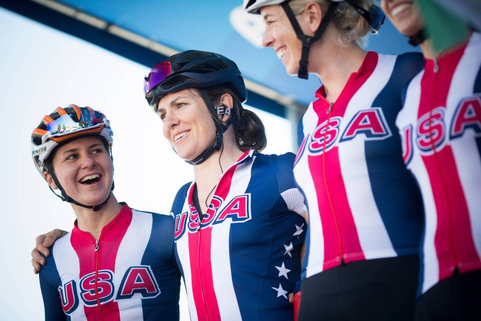 Jennifer with her Team USA teammates at the ToC team presentation