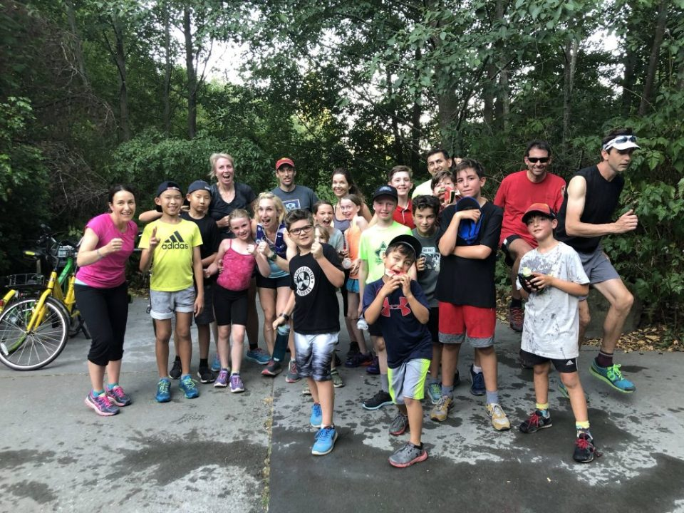 The group started out with runners from Salmon Bay elementary, but soon had runners from Magnolia and even guests from Shanghai, China
