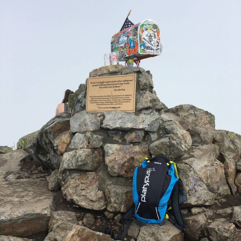 Summit photo of the Tokul XC 8.0 on Mailbox Peak