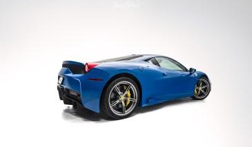 Azzurro-Dino-Ferrari-458-Speciale-XPEL-Ultimate-paint-protection-studio-rear-qtr-s