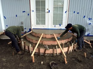 finishing concrete steps