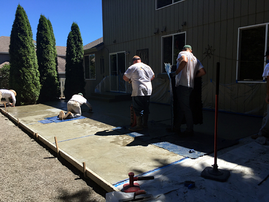 Stamping concrete in Poulsbo