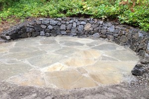 basalt retaining wall