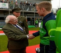 President Micheal D hIGGINS north west cricket cricket
