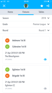 North West Cricket Union Live Scoring app