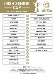 Irish Senior Cup Draw 2018