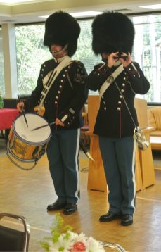 Royal Guards from Denmark Performing at the Seattle Danish Center in Celebration of Queen Margrethe II of Denmark