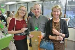 Golden Raffle Ticket Buyers, Marianne Stecher and Kirsten Fischler, with our Auction Volunteer, Anders Barber