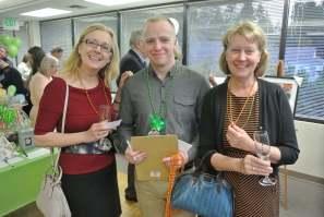 Golden Raffle Ticket Buyers, Marianne Stecher and Kirsten Fischler, with our Auction Volunteer, Anders Barber