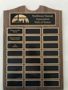 The new NWDA Wall of Honor plaque