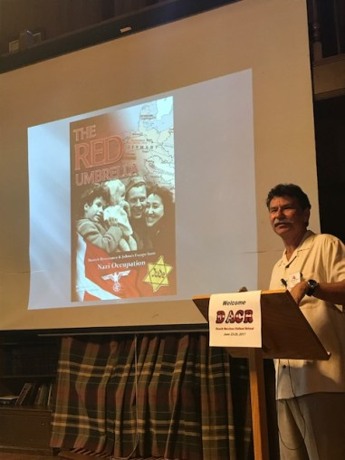 Dave Christensen discussing 'The Red Umbrella', a memoir of his sister, Johna Christensen, and her years as a young Danish Jewish girl during WWII