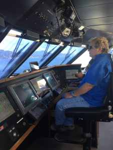 Operating a large vessel in coastal water requires advanced skills and training