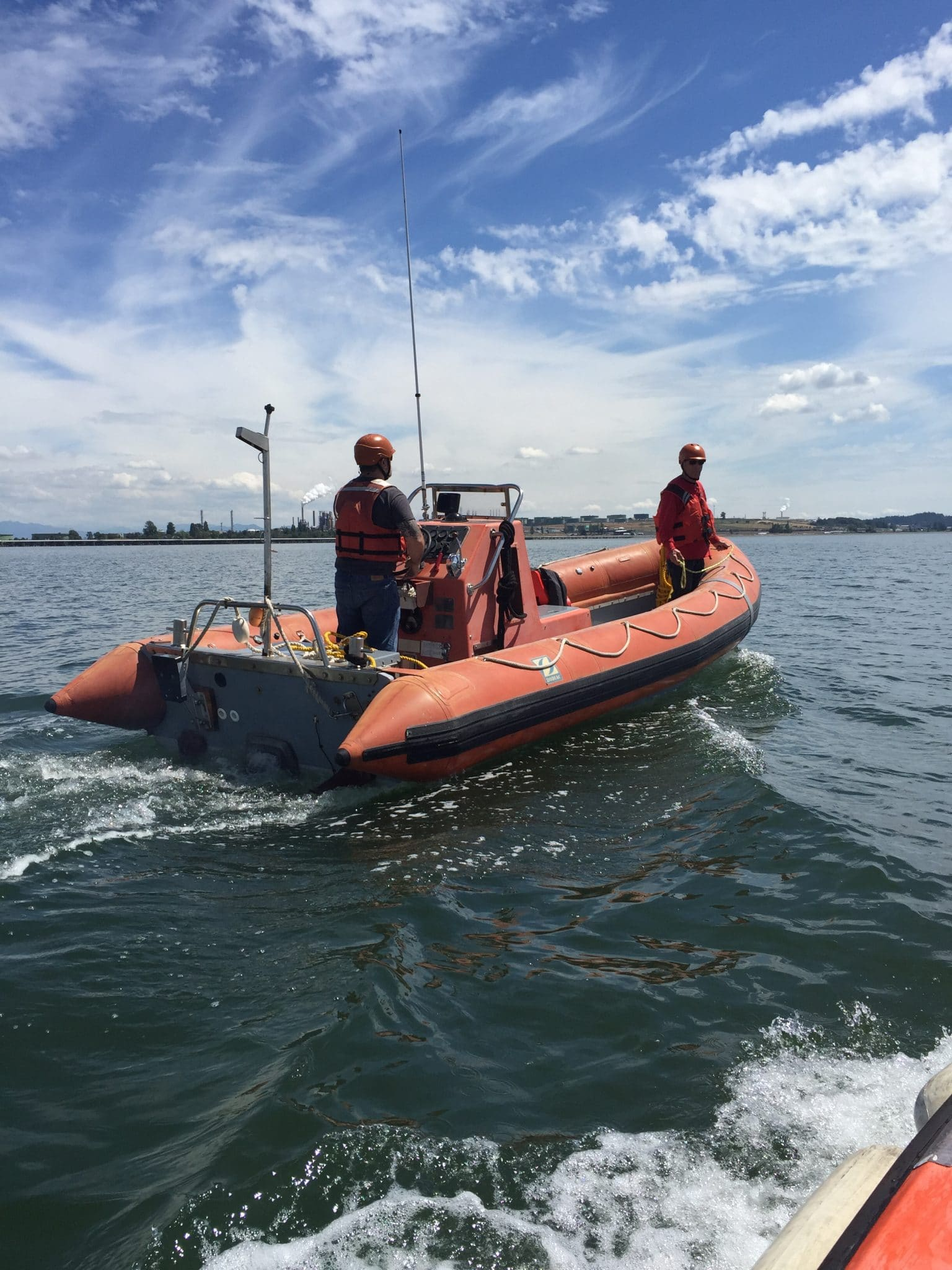 Crew learning vessel handling in OUPV class