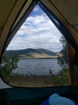 View from the tent!