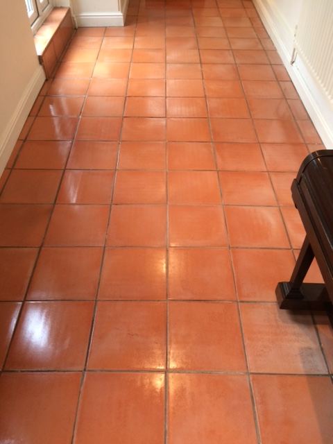 Spanish Terracotta Hallway After Cleaning and Sealing Halifax