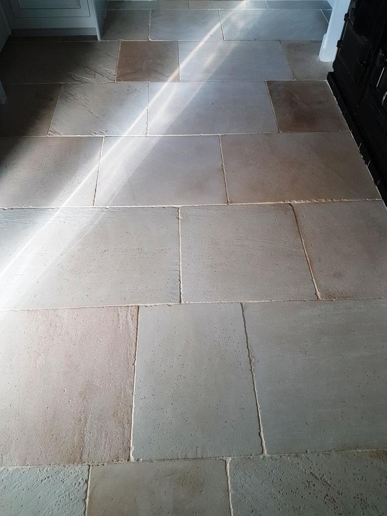 London White Limestone Before Cleaning Leyburn