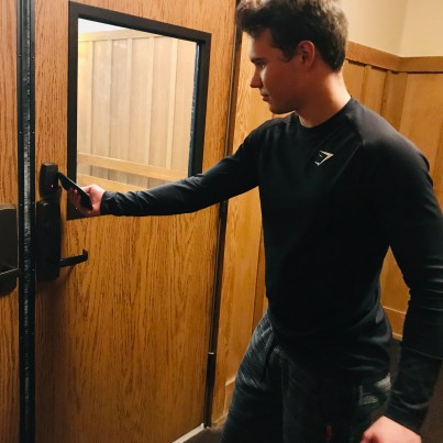 The new fob keyless entry system for all of Northwood's exterior doors (Photo: Mr. John Spear).