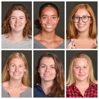 Top row, from l to r: Emilie Venne '20, Angie Castillo '21, and Braelyn Tebo '20 Bottom row, l to r: Kate Hagness '21, Lexi Hooper '20, and Miranda Bookman '20 All photos: Mr. Michael Aldridge