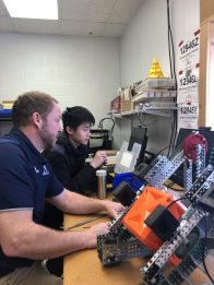 Scenes from the robotics lab in February, 2020 (Photo: Su Hae Jang '20)