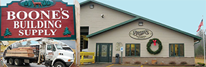 Boone's Building Supply logo click for website