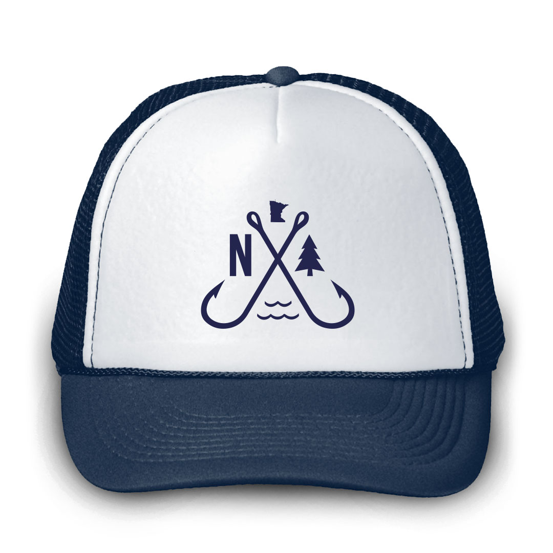 f259b28cd3420 Minnesota Outdoor Fishermen Trucker Hat by Northwoods Clothing Co.