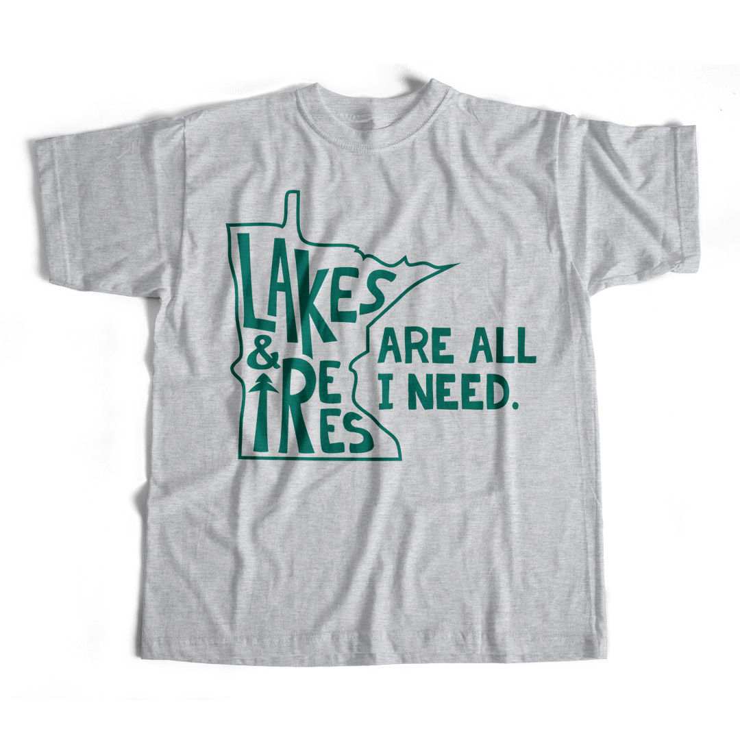 9006a6b27d9 Men s Unisex Lakes   Trees Minnesota T-Shirt