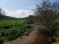 River Esk near Castleton - river bank fencing and tree planting.