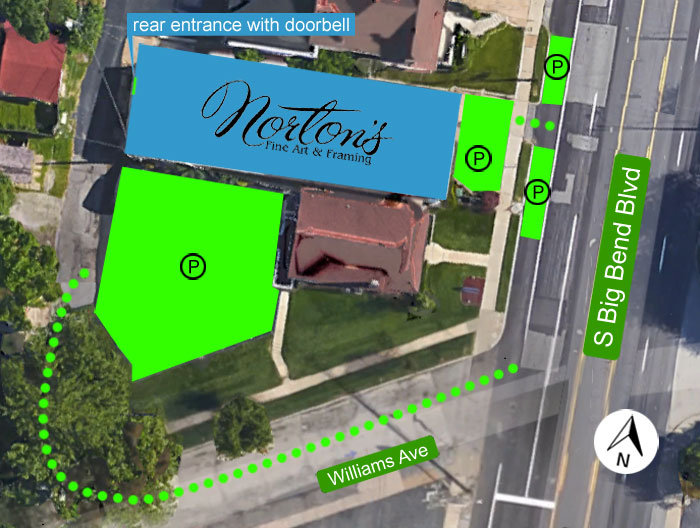 Norton's Parking Map