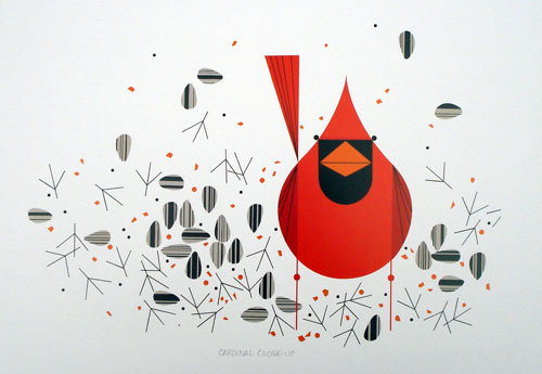 Charley Harper - Cardinal Closeup