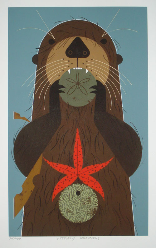 Charley Harper - Otterly Delicious